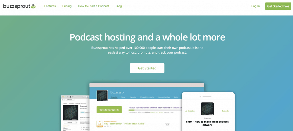 Buzzsprout hosting