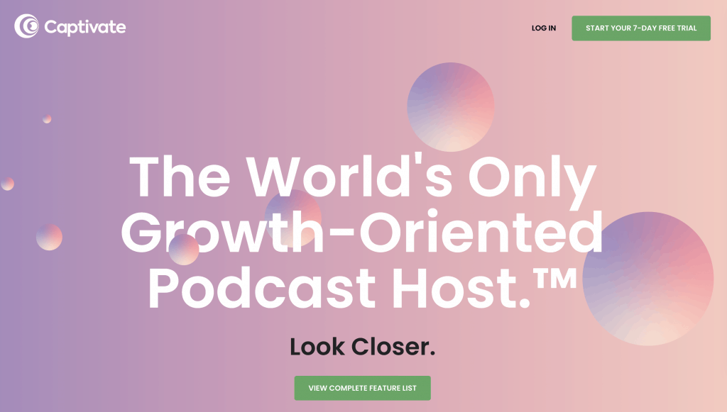 Captivate Podcast Hosting