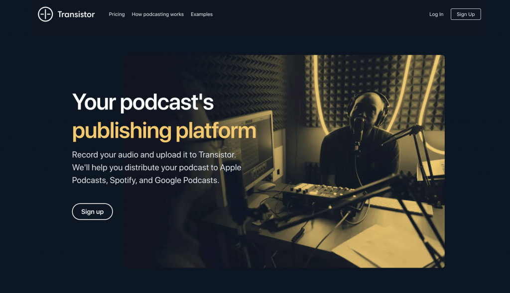 Transistor Hosting for your Podcast