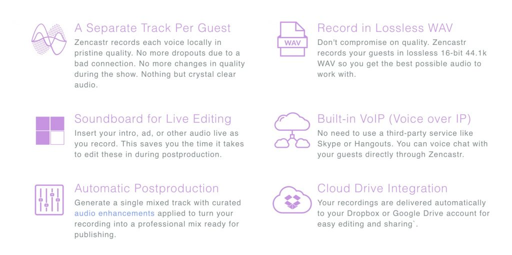 Zencastr Guest recording features