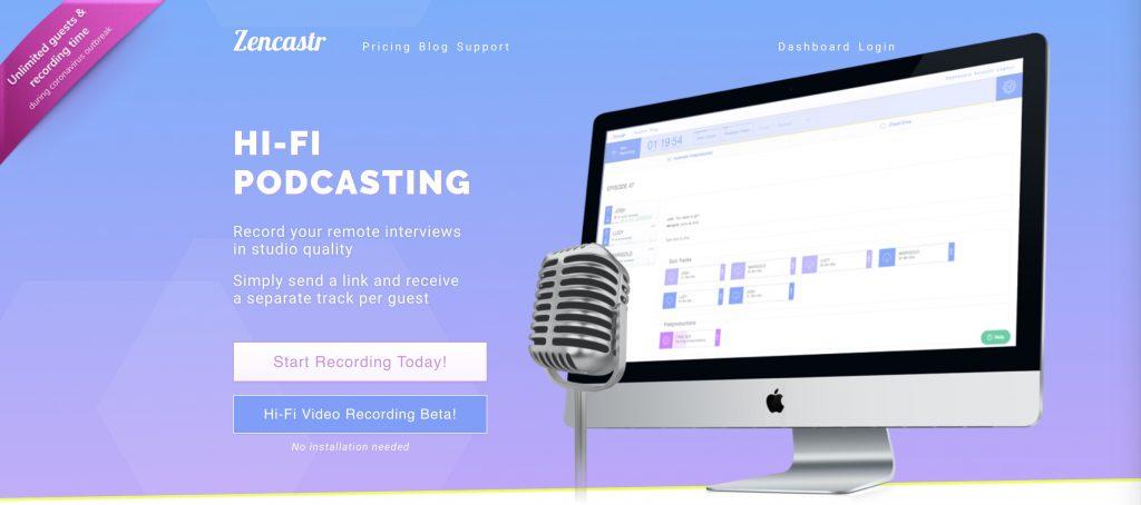 Zencastr Review podcasting